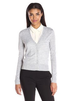 Theory Women's V-Neck Cardigan Merino Wool Sweater