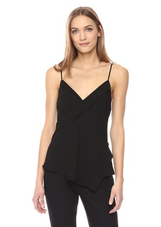Theory Women's V Neck Crossover Silk Tank  S