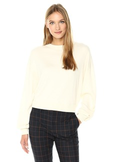 Theory Women's Verlina_fine Cashsil Pull-Over (Sweaters) c Ivory S