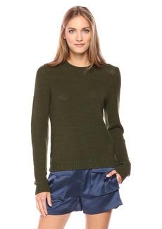 Theory Women's Yulia_Summer Boucle Pull-Over (Sweaters) URZ Dark Basil P