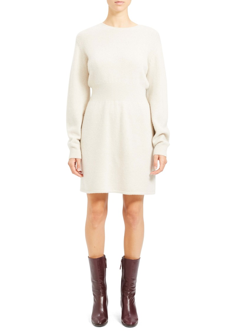 Theory Wool & Cashmere Long Sleeve Sweater Dress