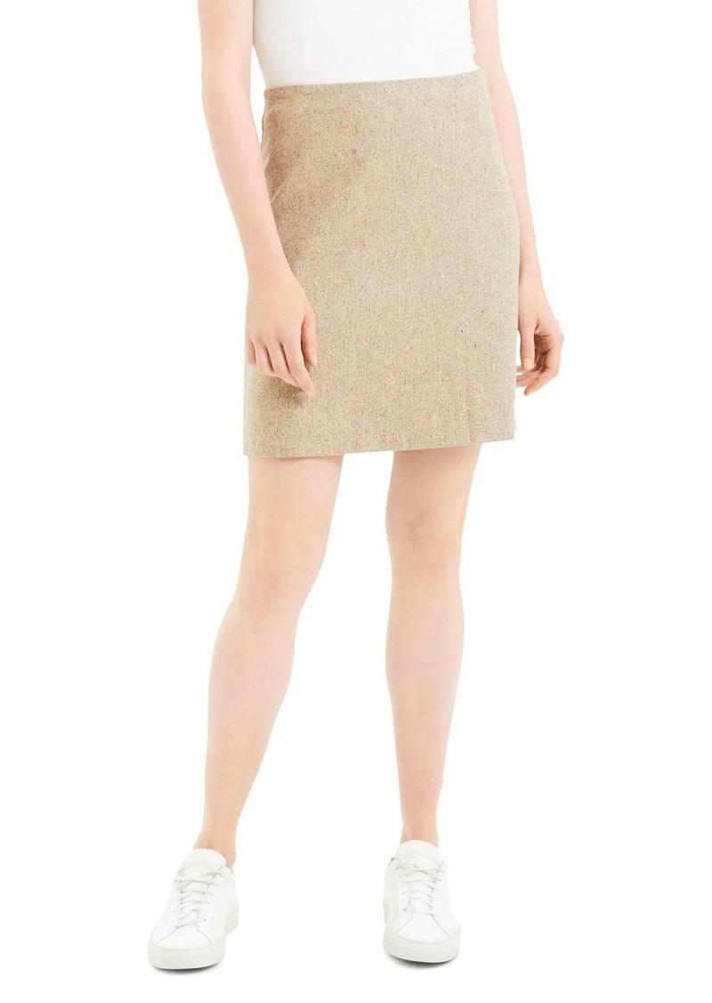 Theory Wool Blend Mini Skirt