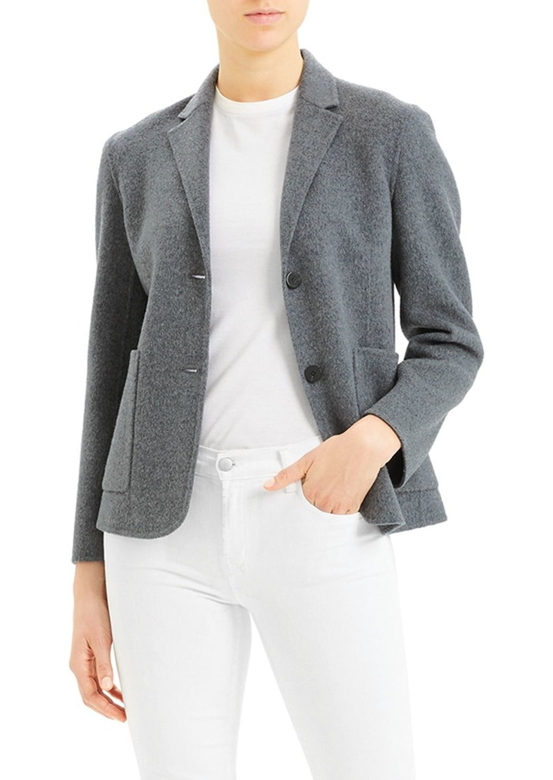 Theory Wool-Blend Shrunken Blazer