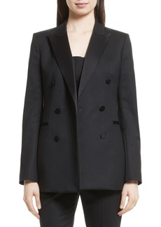 Theory Wool Blend Tuxedo Jacket