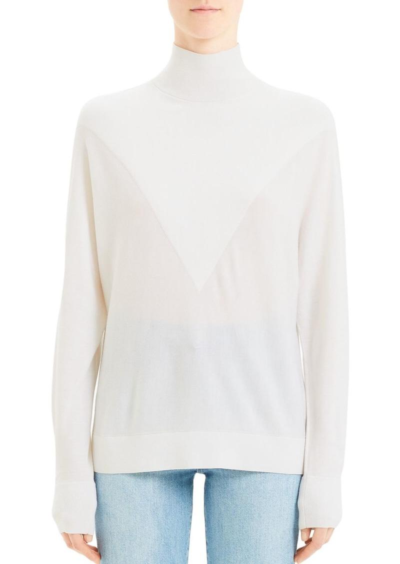 Theory Wool Intarsia Turtleneck Sweater