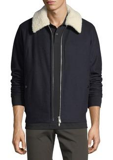 Theory Wool Melton Bomber Jacket