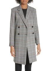 Theory Wool Plaid Square Coat