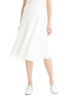 Theory Wrap Front Linen Blend Skirt