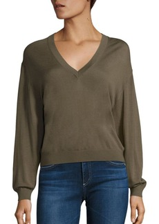 Theory Yulia V Silk-Blend Sweater