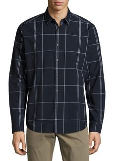 Theory Zack Large Grid Sport Shirt