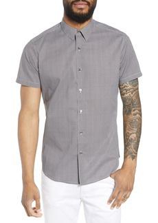 Theory Zack Regular Fit Corner Print Sport Shirt