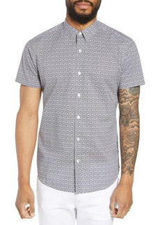 Theory Zack Regular Fit Geo Press Print Sport Shirt