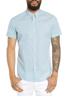 Theory Zack Regular Fit Mini Print Sport Shirt