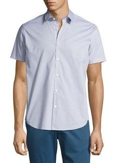 Theory Zack S. Grid Dobby Short-Sleeve Shirt