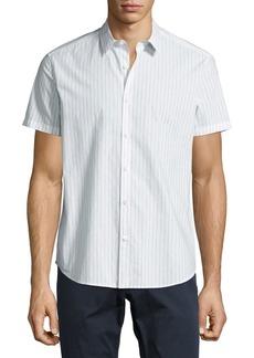 Theory Zack S Shift Grid Short-Sleeve Sport Shirt