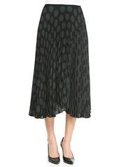 Theory Zeyn Pleated Dotted Chiffon Skirt