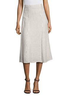 Theory Zimri Striped Skirt
