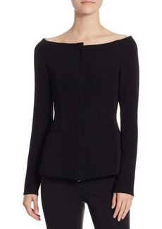 Theory Zip Off-the-Shoulder Jacket