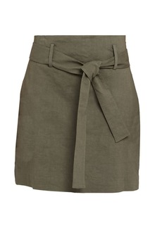 Theory Tie Belt Mini Skirt