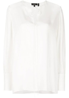 Theory tie fastening blouse
