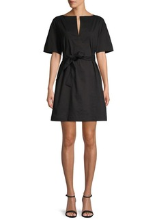Theory Tie-Front Shift Dress