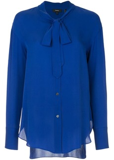Theory tie neck blouse
