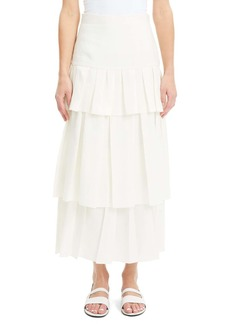 Theory Tiered Ruffle Linen Maxi Skirt