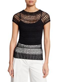 Theory Tissage Crochet T-Shirt