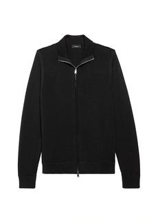 Theory Todd Full-Zip Textured Sweater