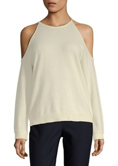Theory Toleema Cold-Shoulder Cashmere Top