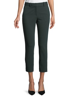 Theory Trecca 2K Textured-Knit Skinny-Leg Cropped Pants