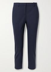 Theory Treeca 2 Cropped Stretch-wool Straight-leg Pants