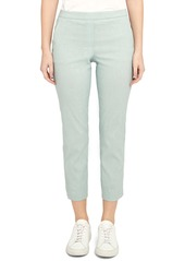 Theory Treeca Good Linen Cropped Pull-On Ankle Pants