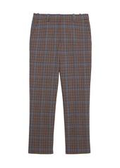 Theory Treeca Plaid Wool-Blend Pants
