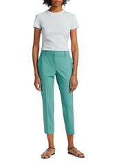 Theory Treeca Skinny-Leg Cropped Good Wool Suiting Pants