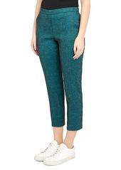 Theory Treeca Stretch-Linen Cropped Pants