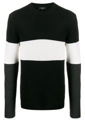 Theory ribbed panelled jumper