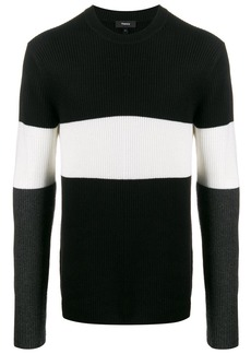 Theory tri-coloured jumper