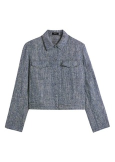 Theory Trucker Linen-Blend Jacket