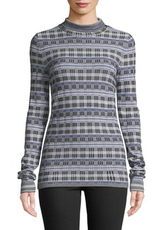 Theory Turtleneck Long-Sleeve Prosecco Knit Top