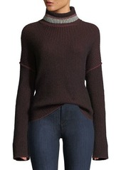 Theory turtleneck oversized mix stripe cashmere sweater abv8ae9a1cf a