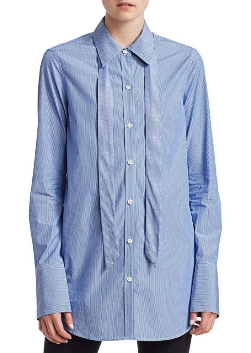 Theory Tuxedo Tie Button-Down Shirt