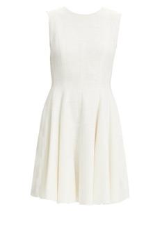 Theory Tweed Fit-&-Flare Sleeveless Dress