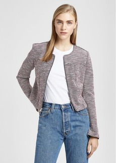 Theory Tweed Zip Blazer