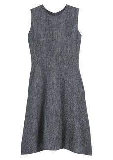 Theory Twill Linen-Blend A-Line Dress