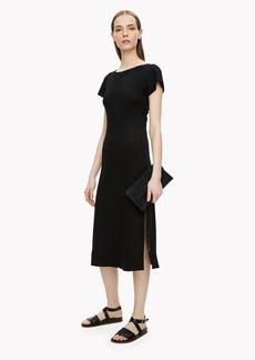 Theory Twist-Back Midi Dress