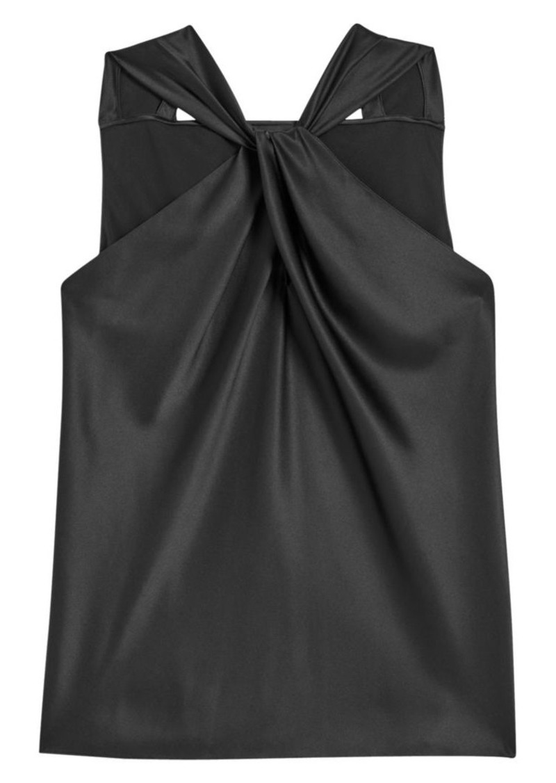 Theory Twist Stretch-Silk Halter Top