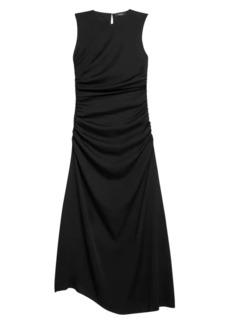 Theory Twisted Stretch-Silk Sleeveless Dress