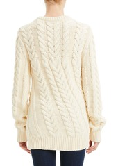 Theory Twisting Cable Crew Neck Sweater