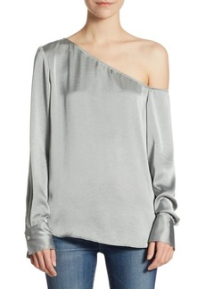 Theory Ulrika One-Shoulder Blouse